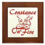 Constance On Fire Framed Tile