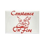 Constance On Fire Rectangle Magnet