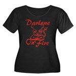 Darlene On Fire Women's Plus Size Scoop Neck Dark