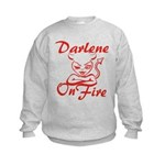 Darlene On Fire Kids Sweatshirt
