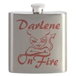 Darlene On Fire Flask