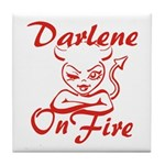 Darlene On Fire Tile Coaster