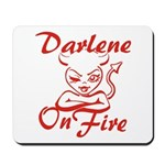 Darlene On Fire Mousepad