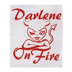 Darlene On Fire Throw Blanket