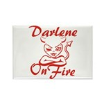 Darlene On Fire Rectangle Magnet