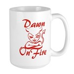Dawn On Fire Large Mug