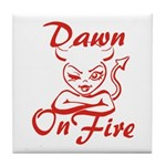 Dawn On Fire Tile Coaster