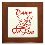 Dawn On Fire Framed Tile