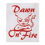 Dawn On Fire Throw Blanket