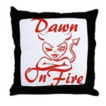 Dawn On Fire Throw Pillow