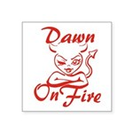 Dawn On Fire Square Sticker 3