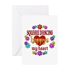 Square Dancing Happy Greeting Card
