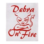 Debra On Fire Throw Blanket