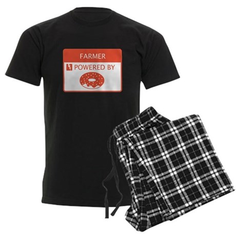 Farmer Powered by Doughnuts Men's Dark Pajamas