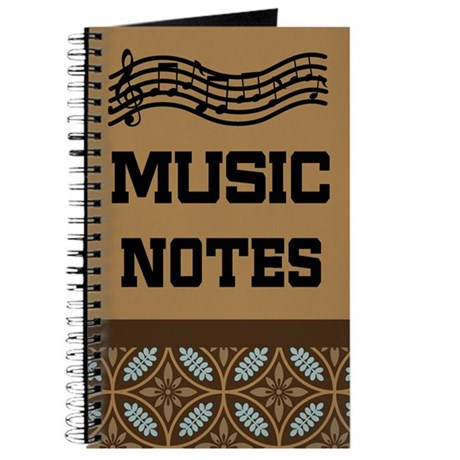 Music Notes Gift Journal