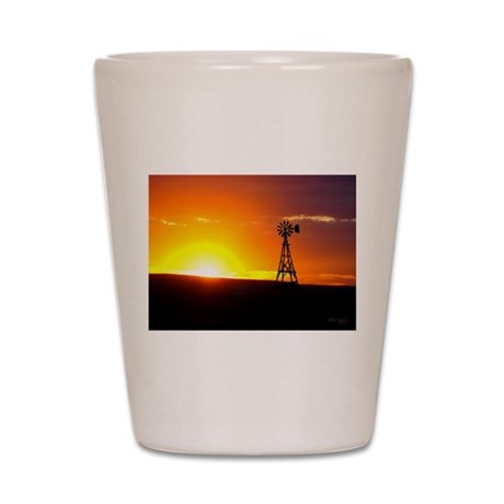 Windmill Sunset Shot Glass