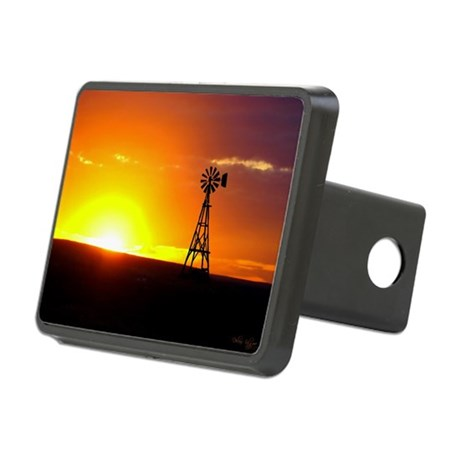 Windmill Sunset Rectangular Hitch Cover