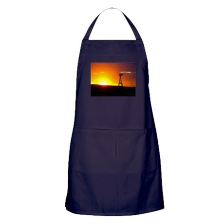 Windmill Sunset Apron (dark)