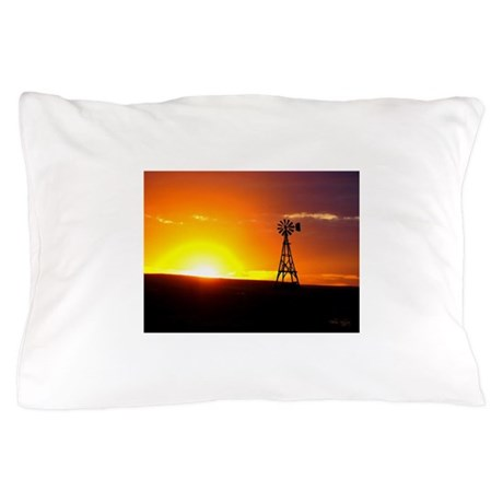 Windmill Sunset Pillow Case