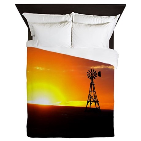 Windmill Sunset Queen Duvet