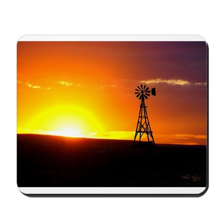 Windmill Sunset Mousepad
