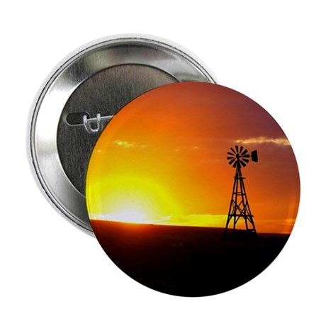 "Windmill Sunset 2.25"" Button (10 pack)"