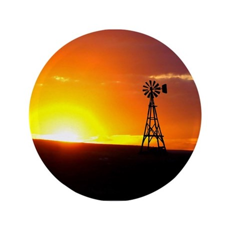 "Windmill Sunset 3.5"" Button"