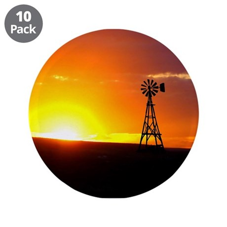 "Windmill Sunset 3.5"" Button (10 pack)"