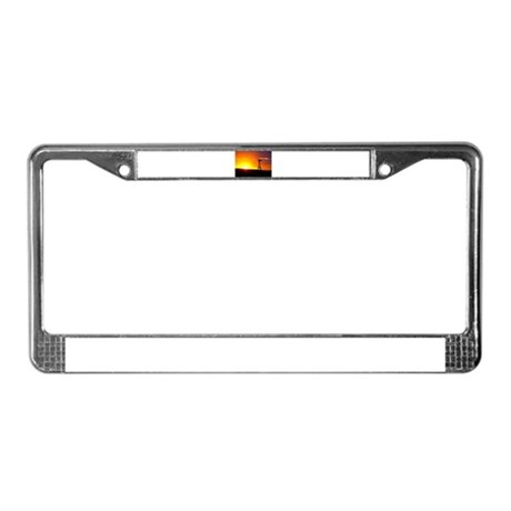Windmill Sunset License Plate Frame