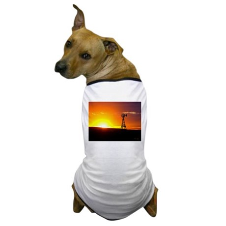 Windmill Sunset Dog T-Shirt