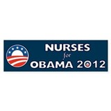 Nurses For Obama 2012 Bumper Sticker