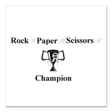 "Champ Square Car Magnet 3"" x 3"""
