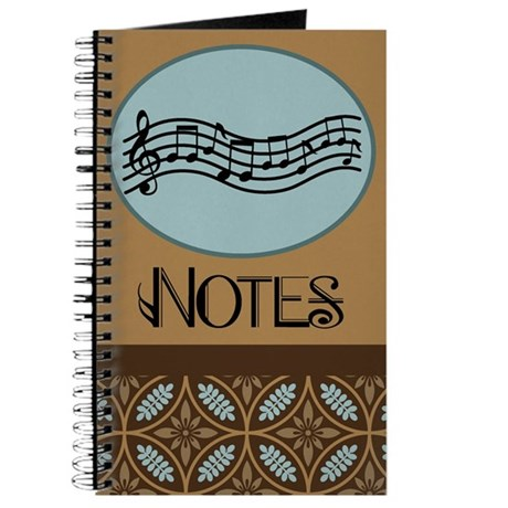 Musician Staff Notes Journal