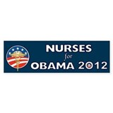 Nurses For Obama With Caduceus Bumper Sticker
