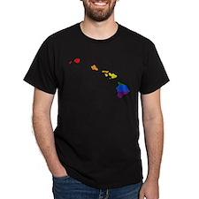 Hawaii Rainbow Pride Flag And Map T-Shirt