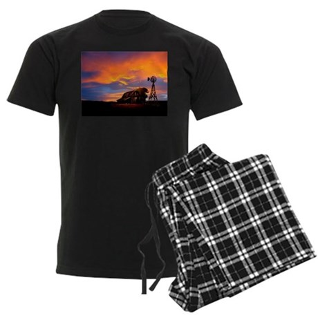God is Watching Sunset Men's Dark Pajamas