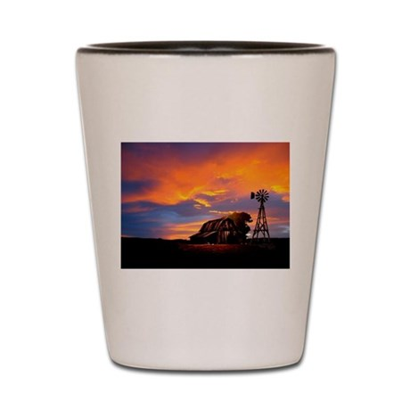 God is Watching Sunset Shot Glass