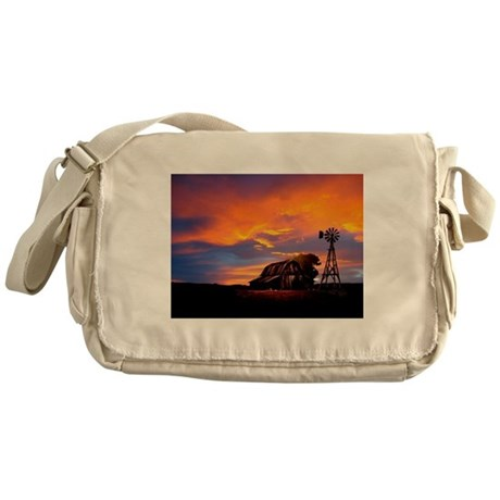 God is Watching Sunset Messenger Bag