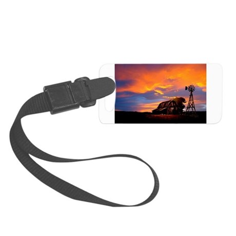 God is Watching Sunset Small Luggage Tag