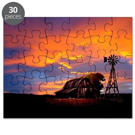 God is Watching Sunset Puzzle
