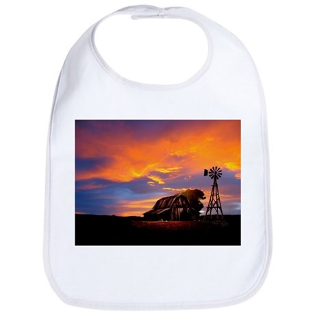 God is Watching Sunset Bib