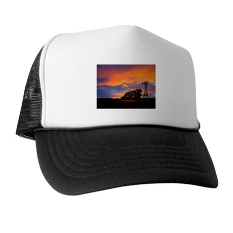 God is Watching Sunset Trucker Hat