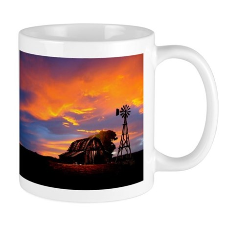 God is Watching Sunset Mug