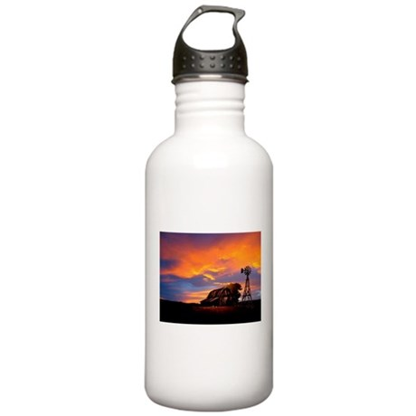 God is Watching Sunset Stainless Water Bottle 1.0L