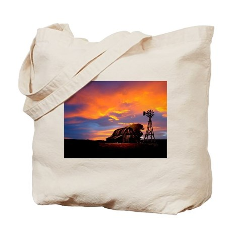 God is Watching Sunset Tote Bag