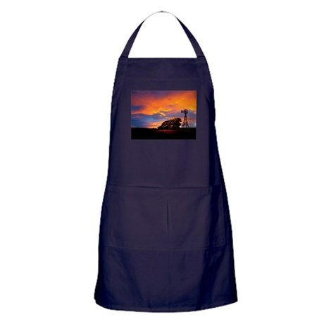 God is Watching Sunset Apron (dark)