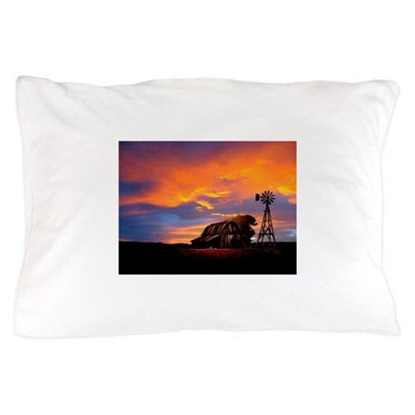God is Watching Sunset Pillow Case