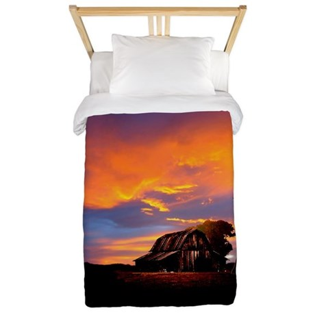 God is Watching Sunset Twin Duvet
