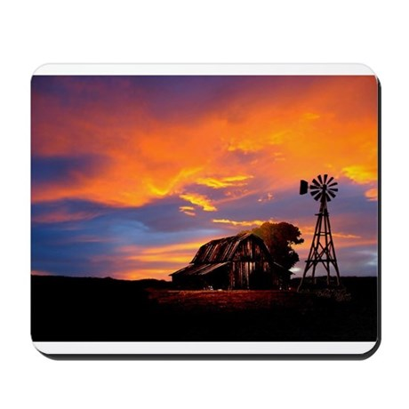 God is Watching Sunset Mousepad