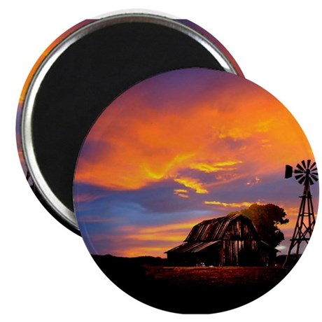 God is Watching Sunset Magnet